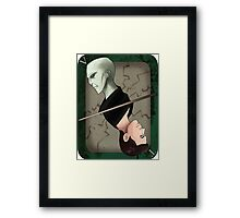 Lord Voldemort Playing Card Framed Print