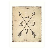 Love With Arrows Art Print