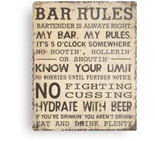 Bar Rules Metal Print