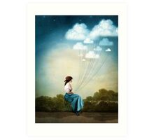 Blue Thoughts Art Print