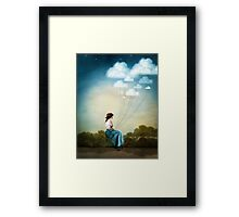 Blue Thoughts Framed Print