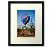 Hot Air Balloon Flight over the Lush Arizona Desert Framed Print