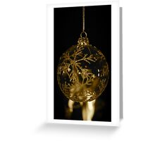 Snowflake Bauble (gold) Greeting Card