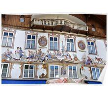 Facade at Oberammergau Bavaria Poster