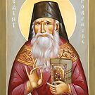 St Porphyrios of Kavsokalyvia by ikonographics