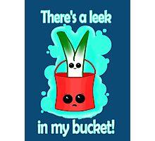 Leek in my bucket Photographic Print