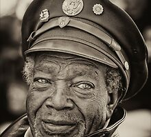 Elderly Veteran, Veterans Day 11/11/11 NYC by Robert Ullmann