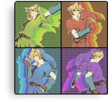Legend of Zelda: 4 swords adult Links Canvas Print
