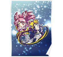 Super Sailor Moon & Chibi Moon (edit 1/A) Poster