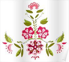 Flower Power - White Poster