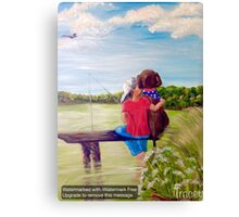 Head In the Clouds, Pole In the Water, Dog In His Heart Canvas Print