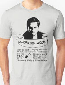 Captain Hook + Quotes Unisex T-Shirt