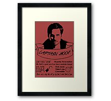 Captain Hook + Quotes Framed Print