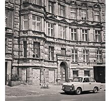 Trabant in front of Apartment Building: Berlin Photographic Print