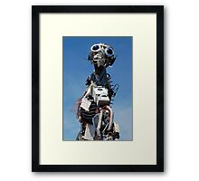 Waste Electrical and Electronic Recycled Cool Robot Man Framed Print