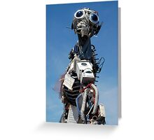 Waste Electrical and Electronic Recycled Cool Robot Man Greeting Card