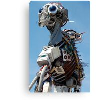 Recycled Waste Electrical and Electronic Equipment Robot Man Canvas Print