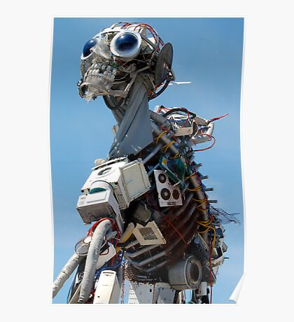 Recycled Waste Electrical and Electronic Equipment Robot Man Poster