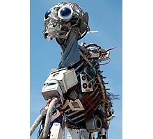 Recycled Waste Electrical and Electronic Equipment Robot Man Photographic Print