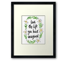 Imaginative Lily Framed Print