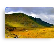 brown crag lake district Canvas Print