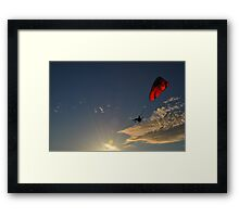 Power Paragliding  on a Summer Day Framed Print