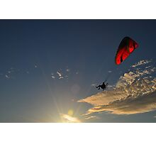 Power Paragliding  on a Summer Day Photographic Print
