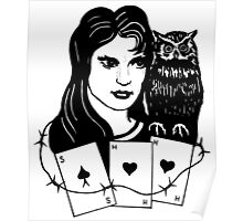Woman with Owl Poster
