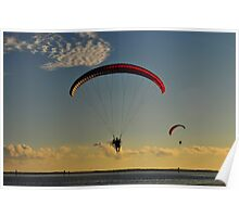 Power Paragliding  Over the Water Poster