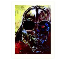 Darth Vader Alien Terminator Mashup Art Print