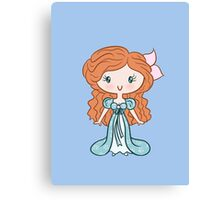 Lil' CutiE - Curtains Princess Canvas Print