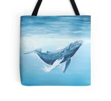 Humpback whale underwater Tote Bag