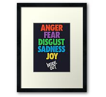 Inside Out emotions with the logo Framed Print