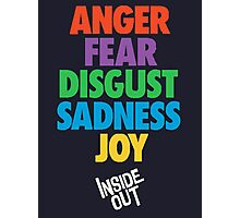 Inside Out emotions with the logo Photographic Print