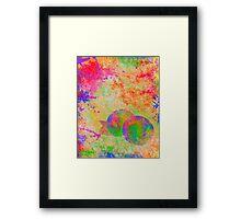 Electric Peach Framed Print