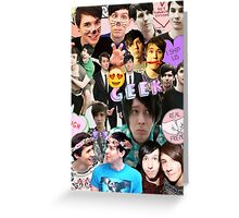 Dan & Phil Collage Greeting Card