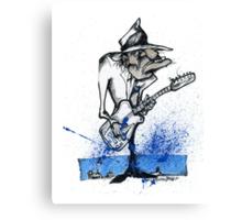 BluesHeart Canvas Print