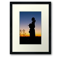 The only superman I know is my dad... Framed Print