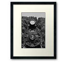 Train Headon Framed Print