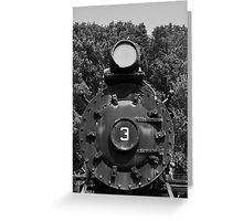 Train Headon Greeting Card