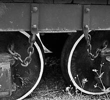 Two Coal Tender Wheels. by joevoz