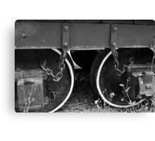 Two Coal Tender Wheels. Canvas Print