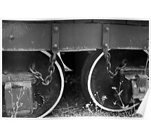 Two Coal Tender Wheels. Poster
