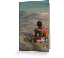 Sandcastle Dreaming Greeting Card