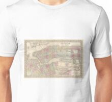 Vintage Map of NYC and Brooklyn (1882) Unisex T-Shirt