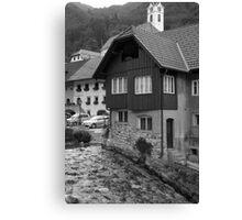 Kropa in Black and White Canvas Print