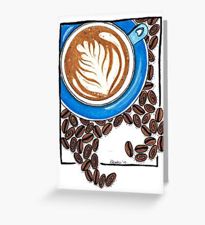 Cafe Latte Greeting Card