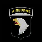 Screaming Eagle - 101st Airborne - iPhone Case by Buckwhite