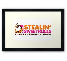 Stealin' Sweetrolls Framed Print