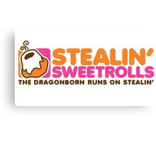 Stealin' Sweetrolls Canvas Print